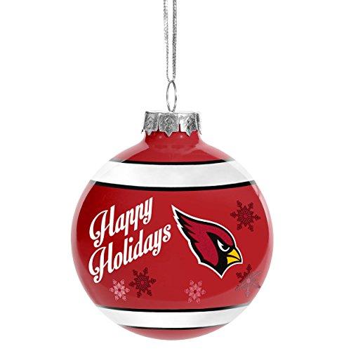 Traditional Glass Christmas Tree Ornaments : Arizona cardinals christmas tree ornaments