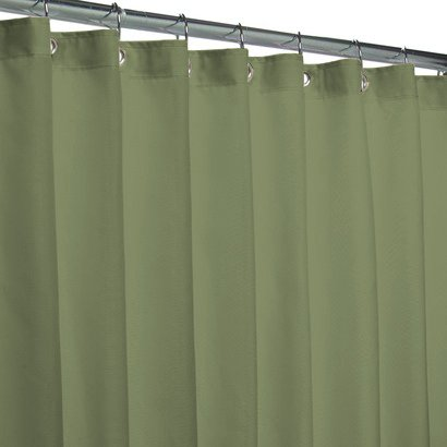 Popular Bath Fabric Shower Curtain Liner Sage