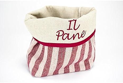 Bolsa bordado el pan de tela rojo a cuadros tela la Toscana ...