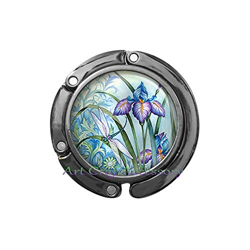 - Dragonfly and Iris Bag Hook, Dragonfly Purse Hook iris Jewelry Dragonfly Jewelry iris Purse Hook Dragonfly Bag Hook Dragonfly Jewellery iris ar,RN428 (G3)