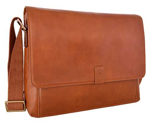 - Aiden Leather Business Laptop Messenger Cross Body Bag