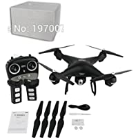 Owill S70W 2.4GHz GPS FPV Drone Quadcopter with 1080P HD Camera Wifi Headless Mode, 7.4V 2500mAh Li-po Battery for Long Flying Time (Black)