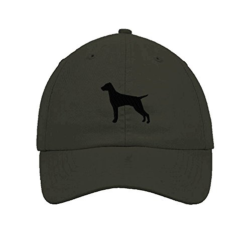 Vizsla Silhouette Embroidered Soft Unstructured Hat Baseball Cap Dark Grey (Vizsla Hat)