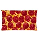 Fashion Pillowcases Food Pillow Case - Popular 20*30 inches inch One Side Pizza Rectangle Pillowcase