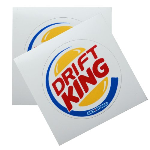2Pc Drift King Burgers Vinyl Sticker Decal Stickerbomb Bomb Funny Spoof Lot for Honda Prelude 96 Honda Prelude Drift