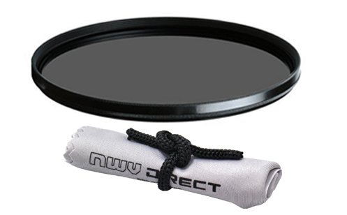 Vivitar High Grade Multi-Coated, Multi-Threaded, Circular Polarizing Filter (67mm) + Nwv Direct Microfiber Cleaning Cloth. (Alternative For Tiffen Part# 67CP) by Vivitar