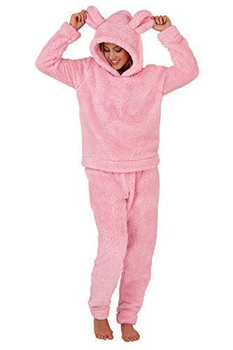 TALLA M. Pijama suave de mujer con capucha de diseño unicornio de Loungeable Boutique, pijama de una sola pieza