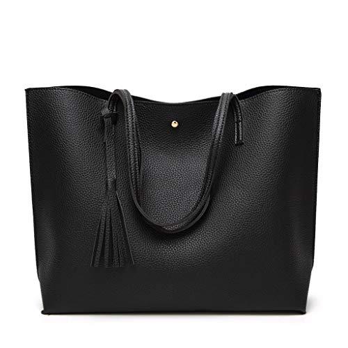 Square Lxf20 Main Sac Femme Taille Grande À Messenger Bandoulière Black À Sac Sac PU Bag RvTUr