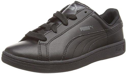 Puma Puma Smash L Jr, Unisex-Kinder Sneakers Schwarz (black-black-dark shadow 01)