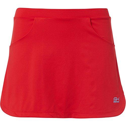 Falda para niña y mujer, para tenis o hockey sobre hierba, con pantalones y bolsillo para pelota integrado, talla 110 a XL, color rojo