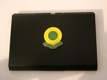 Norwich city football club black business card holder amazon norwich city football club black business card holder reheart Images
