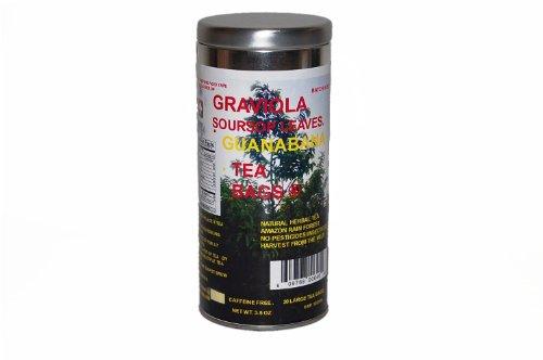 Graviola thé, feuilles de thé corossol, Guanabana Sachets 20 Ct
