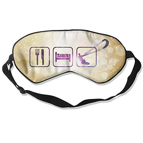Purple Galaxy Eat Sleep Kiteboard 99% Eyeshade Blinders Sleeping Eye Patch Eye Mask Blindfold for Travel Insomnia Meditation