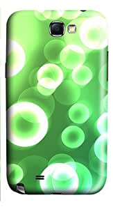 Green Dreamy Effect PC Case and Cover for Samsung Galaxy Note 2/ Note II/ N7100