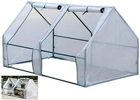 ビニールハウス 温室トマト、180×90×90センチメートル、強化カバーとサイド換気と一緒に家の植物成長部屋、防水PE温室テント、