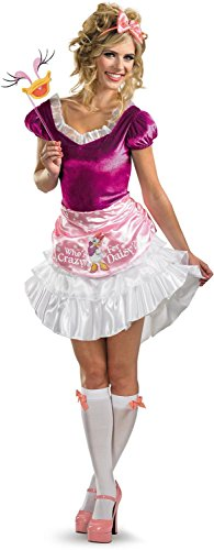 Disguise Unisex Adult Sassy Daisy Duck, White/Pink/Fuchsia, Small (4-6) (Daisy Duck Costume Adults)