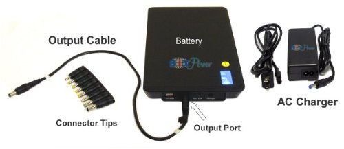 BiXPower 12V & 5V High Capacity (99 Wh, or 27000mAh) Rechargeable Battery with 12V Mini UPS Function - BiXPower MP100-12V