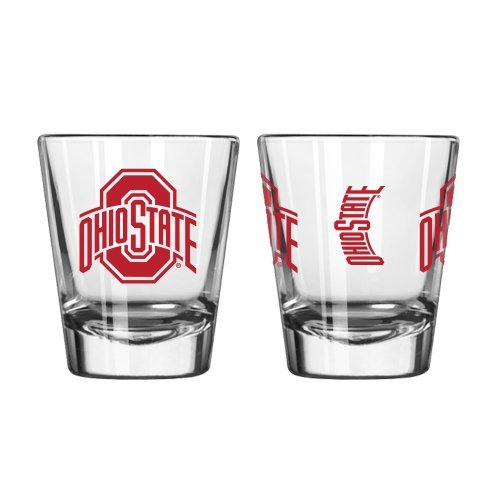 NCAA Ohio State - Game Day Shot Glasses (2) | OSU Buckeyes 2 oz. Collectible Glasses - Set of 2