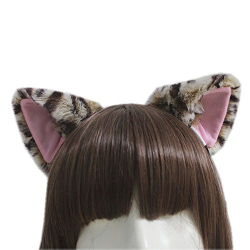 E-TING Gato Fox largo Piel Orejas Diadema Anime de Cosplay Halloween Cosplay Fiesta Disfraz - Quick And Easy Halloween Costumes To Make