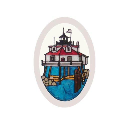Maryland Thomas Point Lighthouse Painted Glass Suncatcher O-1055 - Maryland Stained Glass