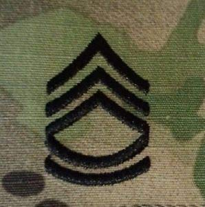 US Army OCP Rank Sergeant First Class E7 Regulation Patch Sew On Pair by HighQ Store