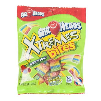 Set of 6 Deliciously Fruity EXTREME Airheads Bites 3.8oz Bags! All the Chewy Deliciousness of Airheads in (Halloween Burger Recipes)