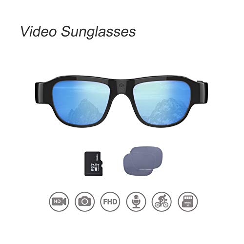 OHO Video Sunglasses, 16GB Ultra HD Outdoor Sports Action Camera with Built in 16MP Camera and Polarized UV400 Protection Safety Lens (1920x1080)
