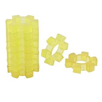eDealMax 14 mm Espesor de plástico Flexible acoplamiento del acoplador Damper amarillas 10 piezas