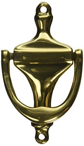 Don-Jo 1613 Forged Brass ANSI L13151 Door Knocker, Polished Brass Finish, 2-1/4