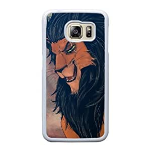 The best gift for Halloween and Christmas Samsung Galaxy S6 Edge Cell Phone Case White Freak badass Scar The Lion King by disney villains VIK9152184