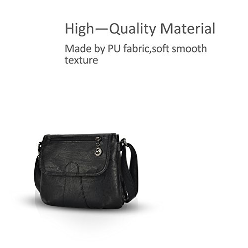 amp;DORIS Woman Bags Shoulder Black and Simple Small Vintage Crossbody NICOLE Hobos PqEdP4