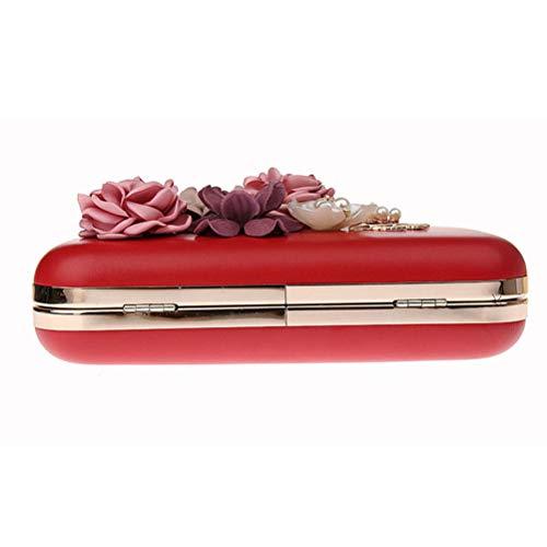 Per Borse Gshe Abiti Di Fiori Le Pochette Donne Coreani Bag Red Banchetti Per Di Pink Sera Da Nozze Per Borsa xqrwSXq8