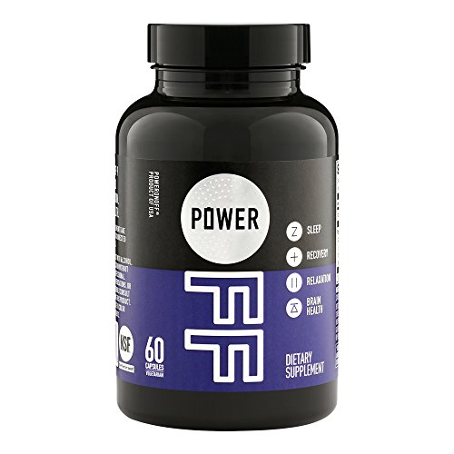 Power Off Sleep Supplement, 60 capsules (30-day supply) – NSF for Sport, Natural, Non Habit-Forming – Contains proprietary GABA nanoliposome, Melatonin, 5-HTP, L-Theanine & 5 synergistic ingredients by Power Off