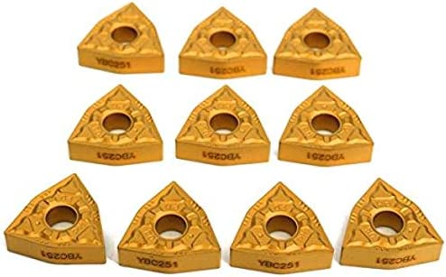 Sepikey Herramientas de torneado Torno Portaherramientas de torneado 16x100mm con Insertos de 10 Piezas