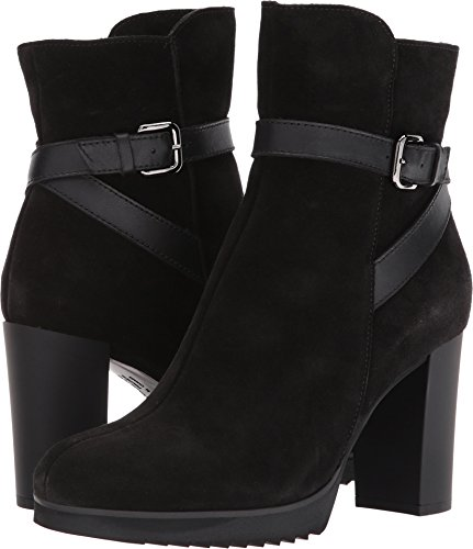 La Canadienne Mujeres Meadow Black Suede / Leather