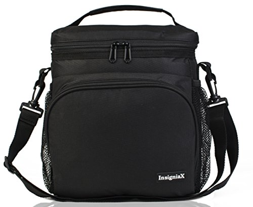 Insulated Lunch Bag S1: InsigniaX Cool Lunch Box/Cooler/Lunchbox for Adult Women Men Work School Kids Girls Boys With Shoulder Strap Water Bottle Holder H: 10