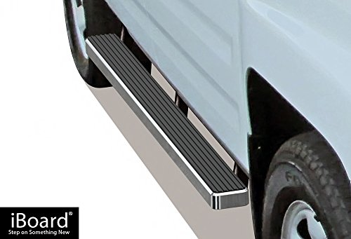 iBoard (Silver 4 inches) Running Boards | Nerf Bars | Side Steps | Step Rails For 2006-2014 Honda Ridgeline Crew Cab Pickup 4-Door