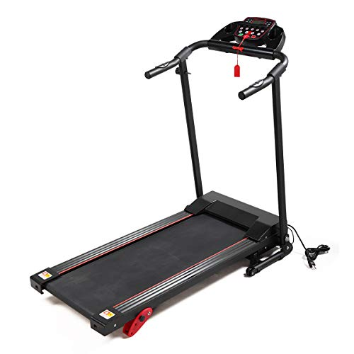 2.0HP Folding Treadmill Gym/Home Fitness Exercise Machine w/Safe Key LCD Display, IPad Holder Black