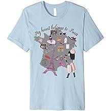 Paris Eiffel Tower Love Shopping Novelty T Shirt