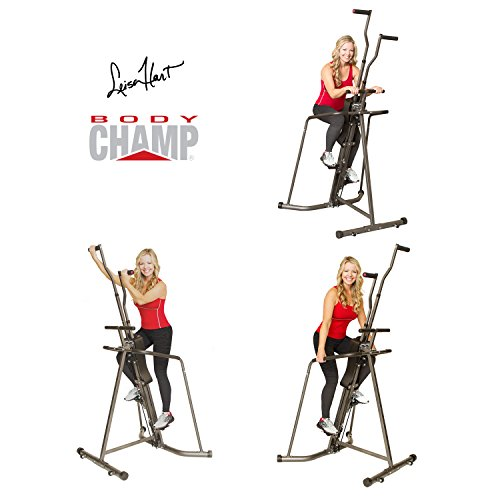 Body Champ Leisa Hart Cardio Vertical Stepper Climber / Includes Assembly Video, Meal Plan Guide, Workout Video access BCR890 by Body Champ (Image #3)