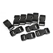 "Side Quick Release Buckles - SODIAL(R) 10 Pcs 1"" Packbag Black Plastic Side Quick Release Buckle Replacement"
