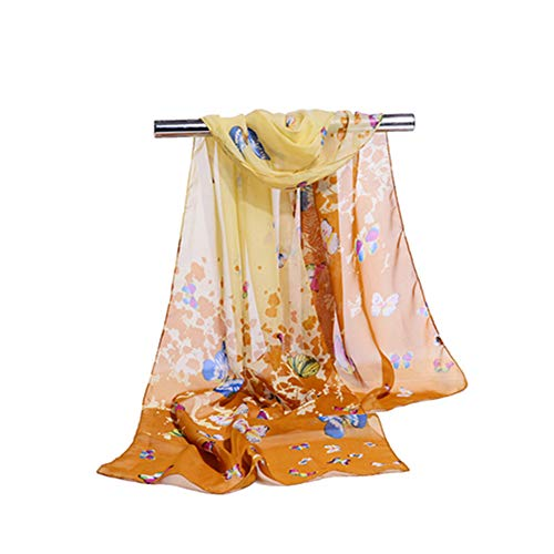 Women'S Scarf Chiffon Scarf Print Air Conditioning Shawl Fashion Women'S Scarf C 160X50Cm]()