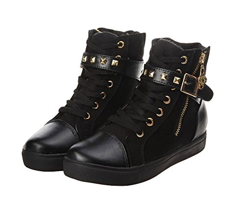King Ma Stylish Velcro Strap High Top Sneaker for Womens and Girls and Ladies -