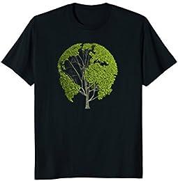 Planet Earth Great Globe Tree T-shirt