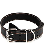 Genuine Leather Dog Collars for Puppy Small Medium Dogs Large Dogs Extra Large Dog