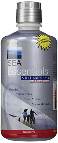 Sea Essentials Vital Nutrients with Coral Calcium, Sea Berry, 32 Ounces - Natures Sea Calcium