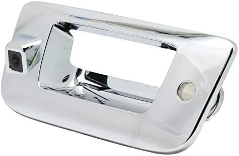 Silver-Tailgate Handle with Backup Camera For Chevy Silverado 1500 2007-2013