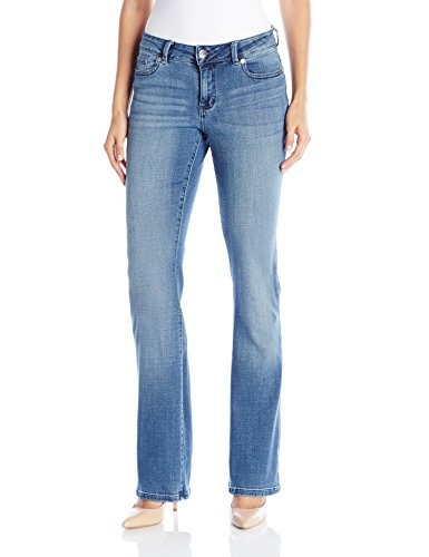 LEE Women's Modern Series Curvy Fit Bootcut Jean with Hidden Pocket, Majestic, 14 Short