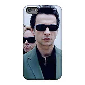 Anti-Scratch Hard Phone Case For Apple Iphone 6 With Allow Personal Design Realistic Depeche Mode Band Pictures MarieFrancePitre