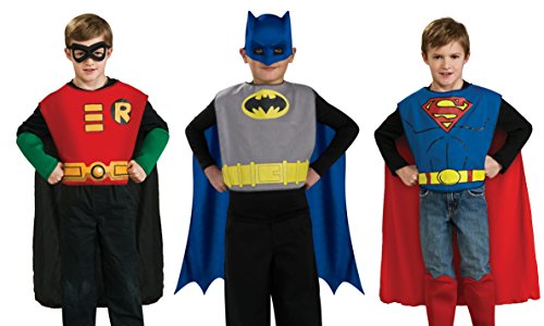 DC Comics Boys Action Trio Superhero Costume - Up Boy Little Dress Clothes